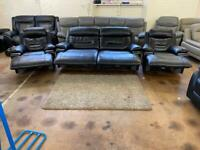 Real leather power electric recliner sofas