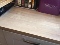 B&q full 10ft length of arlington oak effect worktop square edge rrp £140 oversent need gone asap!!!