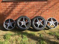 BMW set of 4 x 17 inch Wolfrace street mantis alloys
