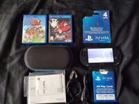 Sony PS Vita Console + Extras