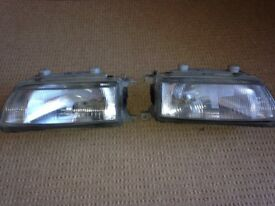 Honda CRX headlights and indicator units.