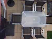 6 seater garden table
