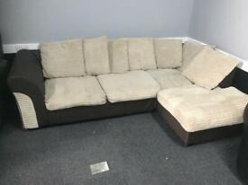Ex-Catalogue Return Jumbocord Fabric Corner Sofa