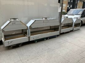 NEW 1 M LONG BBQ KEBAB MANGAL CHARCOAL GRILL CATERING COMMERCIAL KITCHEN FAST FOOD TAKE AWAY SHOP