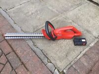 Flymo cordless hedge timmer and strimmer