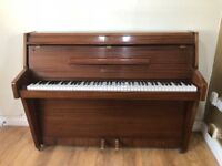 Baby Upright Zender Piano in Gloss Brown Excellent for Beginners FREE LOCAL DELIVERY