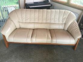 White leather 3,2,1 sofa