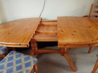 4 chairs and table