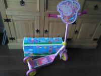 Peppa Pig Tri scooter for sale. Good condition. Still have the box Children's 3 wheel scooter
