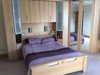 Bedroom furniture - wardrobe / storage for sale inc bed