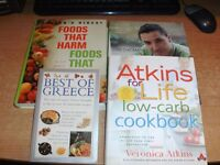 A HUGE SELECTION OF COOKERY BOOKS - READ ON