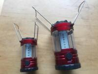 SOLD! 2 gelert led camping lamps