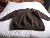 Hand knitted woolen jumper