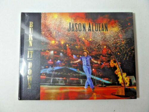 Jason Aldean Burn It Down 2015 Tour Photo Book - NEW sealed