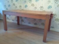 Heavy Solid oak dining table 160cm x 90cm buyer collect.