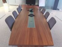Boardroom Table in Walnut seats up to 10 comfortably