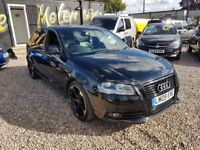 2009 Audi A3 2.0 TDi S-Line full leather black edition sdportback with rotars Facelift BLACK