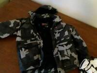 Boys 7-8yr snowboarding jacket & gloves
