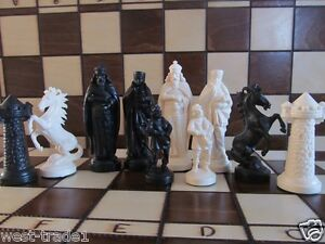 Brand New ♚  Medieval Design Chess Pieces Set♞
