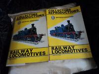 books full of train postcards