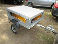 ERDE 102 TILTBED / DROPTAIL GOODS TRAILER WITH COVER......