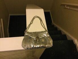 2 glitter ladies handbags for sale