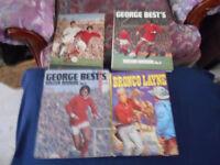 4 x Vintage Annuals George Best Soccer 1, 3 & 4 & Bronco Layne 1963