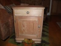 Antique pine bed side cabinate in very good condition.