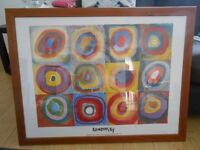 Kandinsky Circles Picture in Wooden Frame