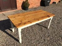 Pine Kitchen table, recently refurbished.