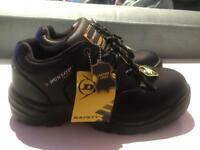 DUNLOP Men's steel toe cap Work Safety Shoes Slip Resistant Size 6