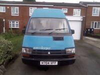 Renault trafic camper van with 12 months MOT