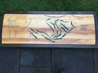 ROYAL BIRKDALE GOLF CLUB WOODEN TABLE TOP OR COULD BE HUNG ON WALL