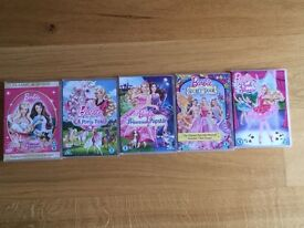 Barbie DVD's x5