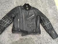 Leather motorbike jacket. Euro size 38.