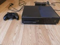 Xbox one black 500GB perfect condition only 1 and a half years old