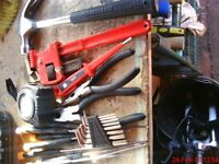 selection of hand tools