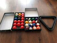 Snooker and pool balls and triangles