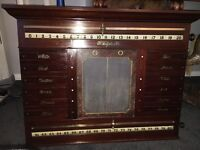 Victorian mahogany snooker scoreboard circa1890