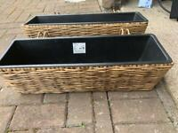 Garden baskets planters 4 available, see listing for price depending on number purchased