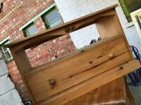 Tv unit with pull down draw