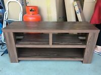TV MEDIA STAND UNIT WOOD BROWN