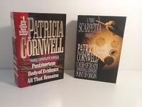 Two Patricia Cornwell books each containing 3 novels