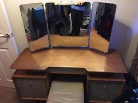G-plan dressing table, bed side draw and chest of draws