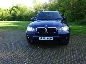 2011 BMW X5 7 SEATER, AUTOMATIC DIESEL, SERVICE HISTORY, 2KEYS, 1 OWNER, HPI CLEAR, WARRANTY MILEAGE