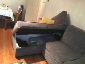 Grey Sofa Bed Chaise
