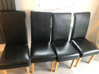 4 x Black Dining Chairs