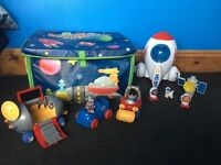 Happyland Space Station Set, box and extras