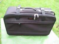 Medium Salisbury Black Fabric Suitcase with Wheels
