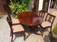 Mahogany dining table